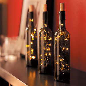 Six Heavenly Wine Bottle Centerpieces » Curbly | DIY Design Community « Keywords: Foodie-Fridays, wine-bottles, recycle, Reuse