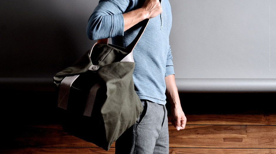 Cube Tote Bag - Leather and Canvas Tote Bag | Hard Graft