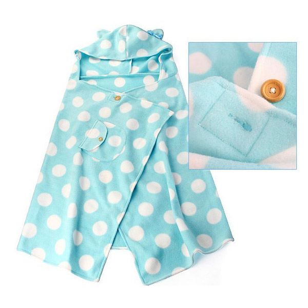 Cute Pink Polka Dot style Hooded Cape Cloak - Creative Gifts - Home & Office - FeelGift