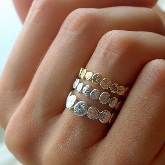 Gold and Silver Pebble Set by colbyjune on Etsy