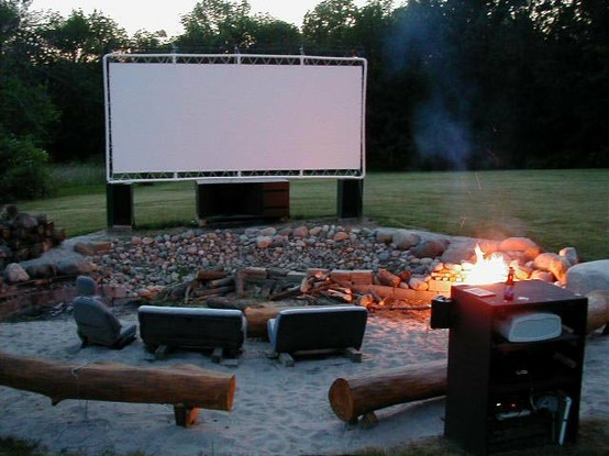 Neighborhood Backyard Movie Theater