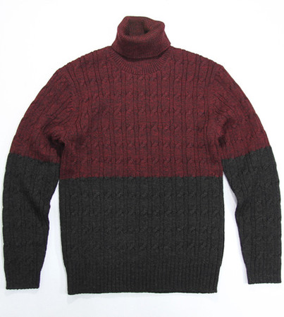 Turtle Neck Cable Pullover