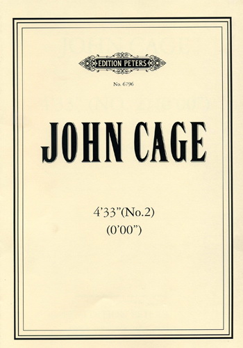 Sheet+music for piano John Cage / 4'33'' Nr. 2 - - Klavier - Partitur - di-arezzo 輸入楽譜