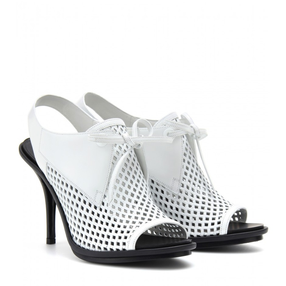 mytheresa.com - PERFORATED LEATHER SLING-BACK SANDALS - high heel - sandals - shoes - Luxury Fashion for Women / Designer clothing, shoes, bags