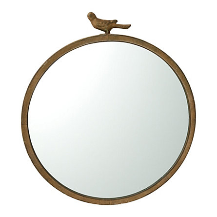 Antiqued Bird Mirror in For Home Shop by Category Décor Wall Décor at Terrain