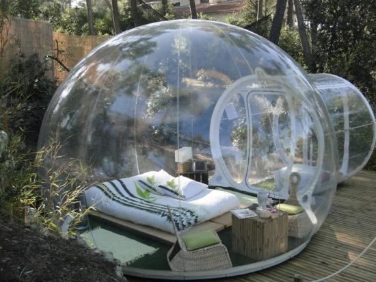 Inflatable tent…so cool for a rainy night! Star watching. NO BUGS. | REPINNED