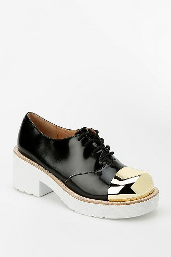 Jeffrey Campbell Metal Toe-Cap Platform Oxford - Urban Outfitters