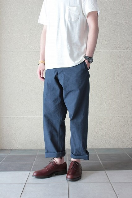 commono reproducts(コモノリプロダクツ) rip stop pants -navy- GROOVY