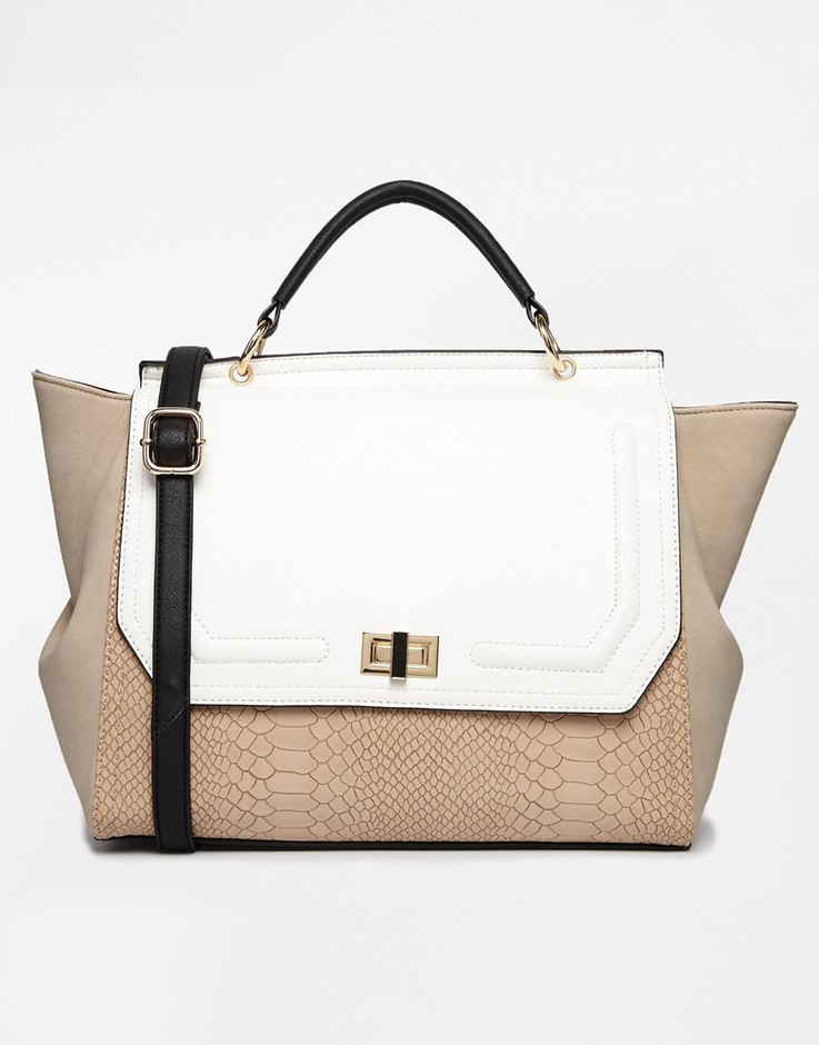 New Look | New Look Rita Rouched Winged Satchel at ASOS