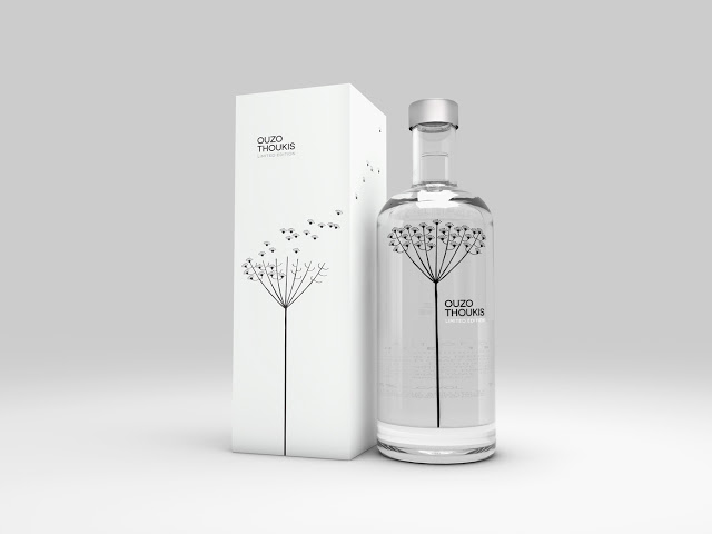 Packaging of the World: Creative Package Design Archive and Gallery: Thoukis Limited Edition Ouzo