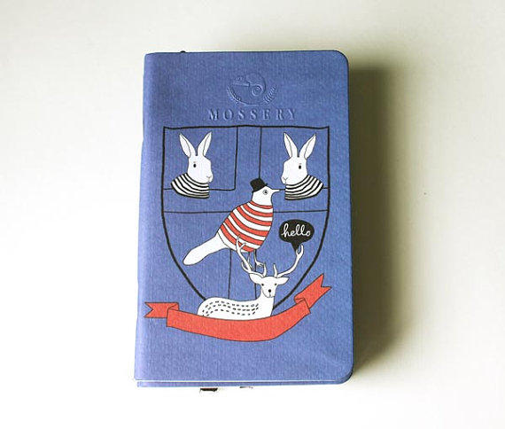 Back To School Pocket Notebook Handmade By Mossery by MosseryCo