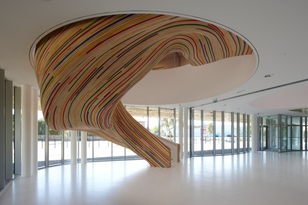 Stairs at The School of Arts by Tétrarc Architects » CONTEMPORIST