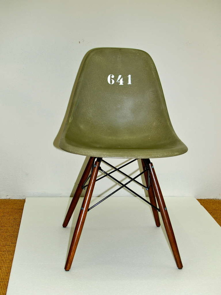 Two Rare Eames Chair for german soldier at 1stdibs