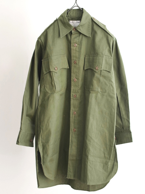 -LILY1ST VINTAGE-1960's deadstock british royal army shirt - FLORAISON