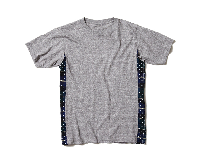 SOPHNET. | PRODUCT | FABRIC MIX TEE (DOT FLANNEL CHECK)