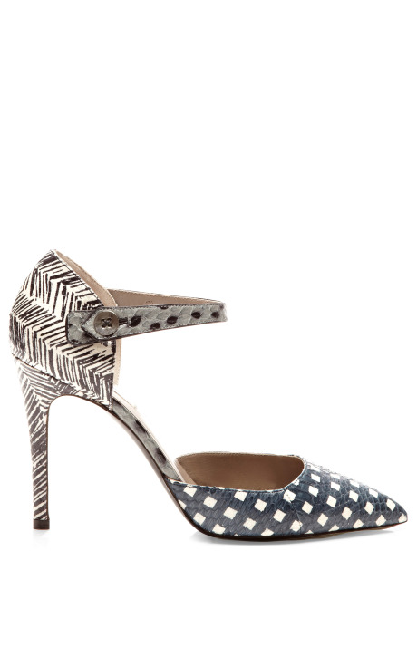 Snakeskin-and-Leather Mary-Jane Pumps by Marc Jacobs - Moda Operandi