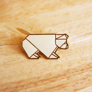 Mr Bear Origami Animal Pin | emerg(in) store - emerging and independent designers