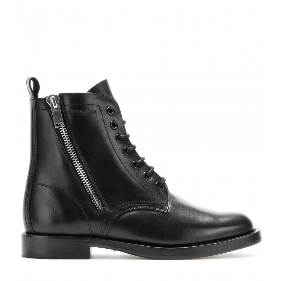 mytheresa.com - Rangers leather boots - Flat - Ankle boots - Shoes - Luxury Fashion for Women / Designer clothing, shoes, bags