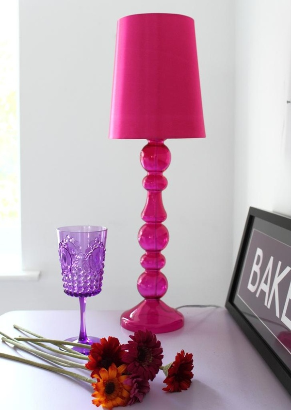 hot pink / Hot pink table lamp