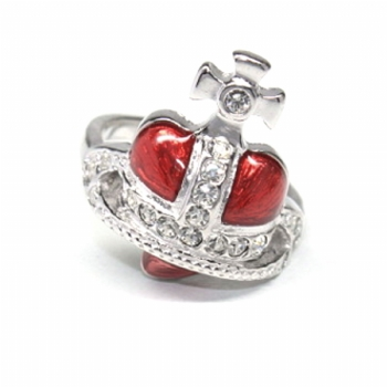 Vivienne Westwood Diamante Heart Ring at the House Designerwear - Mens & Ladies Designer Clothing