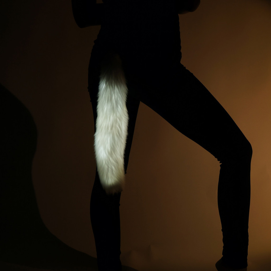 White Light Up Tail | Electric Styles