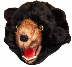 Black Bear Furry Plush Animal Hat - Unisex, Ski Cap | Shop fashion, accessories| Kaboodle