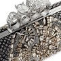 ALEXANDER MCQUEEN - Crystal satin long knuckle box clutch | Black Evening Clutches | Womenswear | Lane Crawford