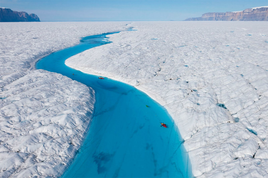 blue river of greenland photo | one big photo