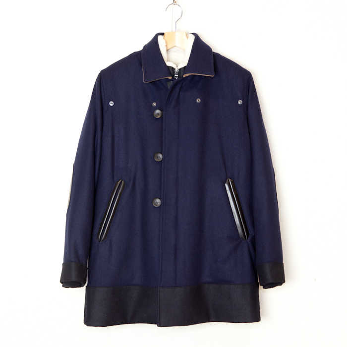 ANALOG LIGHTING * Army Coat Inner Boa with Fur * Navy - public - Online Store