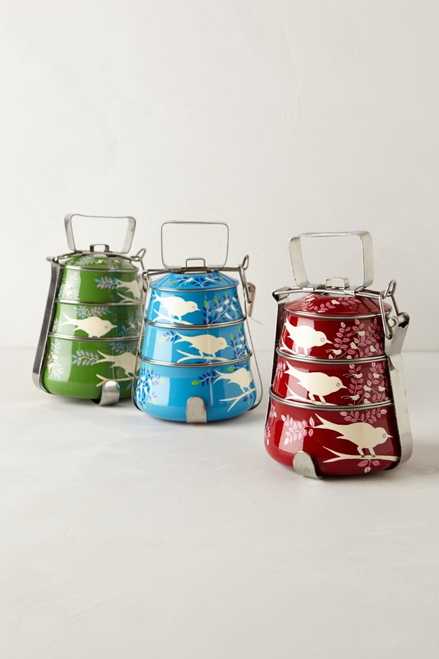 Handpainted Tiffin Carrier - Anthropologie.com