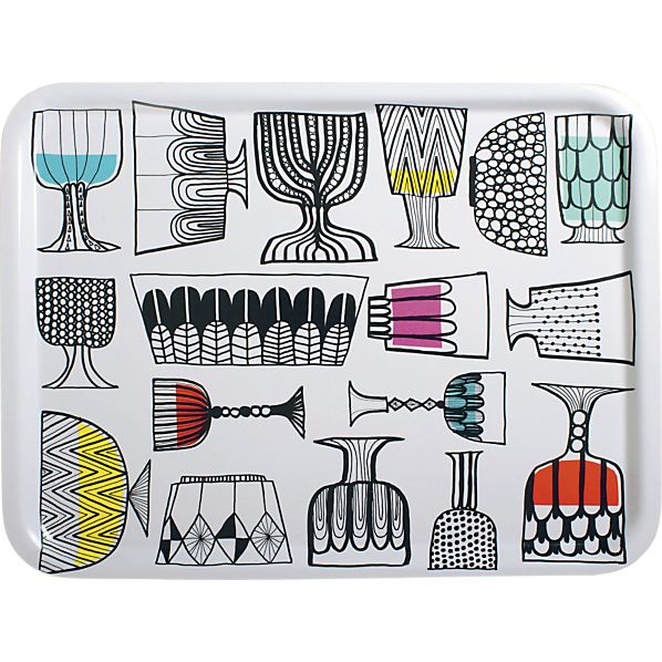Marimekko Kippis Tray in Kitchen and Table | Crate and Barrel