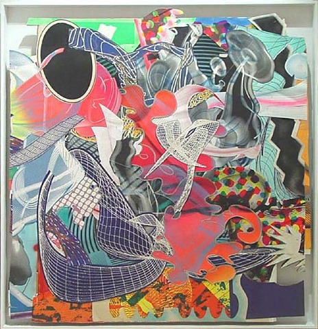 artnet Galleries: Michael Kohlhaas, panel # 2 collage by Frank Stella from Evelyn Aimis Fine Art