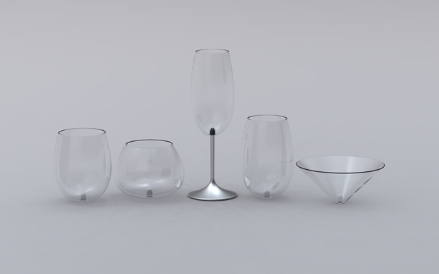 skforlee - modular wine glasses