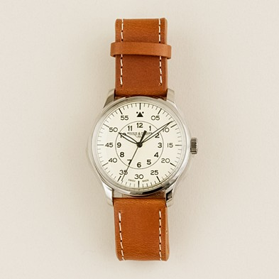 Men - necessary luxuries - Mougin & Piquard for J.Crew grande seconde watch in cream - J.Crew