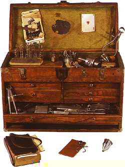 Smithsonian Press--Legacies--3Palace of Progress--Machinist's tool chest, about 1949