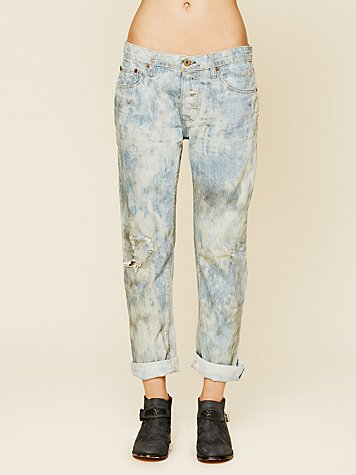 NSF Oil Stained Boyfriend Jean at Free People Clothing Boutique