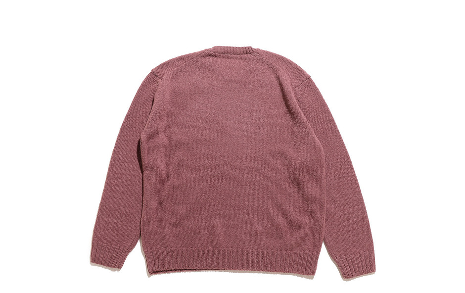 Pure Shetland Wool Knit P/O-Red Brown