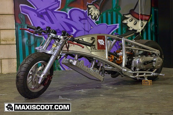 MXS Custom | Dragster 2EVIL | Scooter Tuning Maxiscoot.com