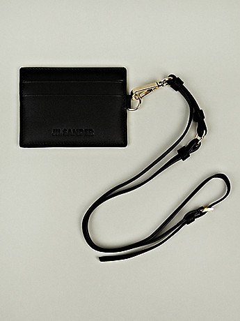 jil sander card holder with strap in black sumally サマリー