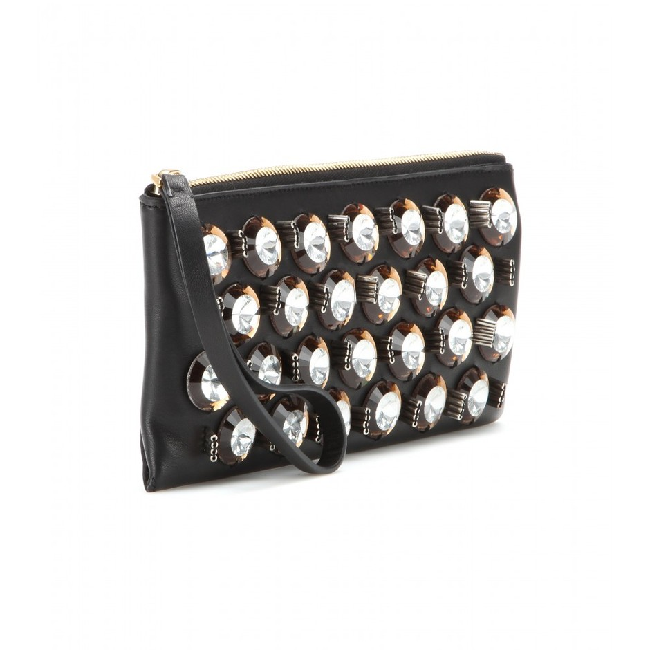 mytheresa.com - Embellished leather clutch - Clutch bags - Bags - Luxury Fashion for Women / Designer clothing, shoes, bags