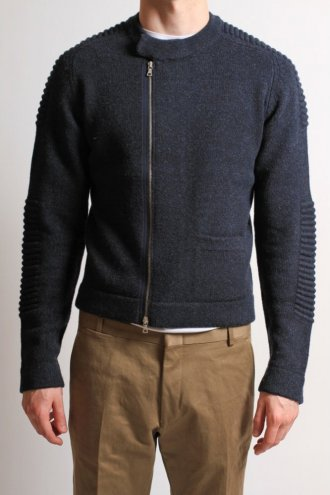 DRIES VAN NOTEN Dries Van Noten 'Timothe' Zip Cardigan Midnight - KNITWEAR from Autograph UK