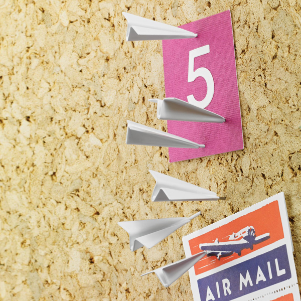 Fancy - Paper Airplane Push Pins