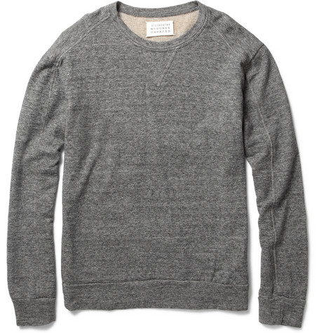 Maison Martin Margiela Lightweight Cotton-Blend Sweatshirt | MR PORTER