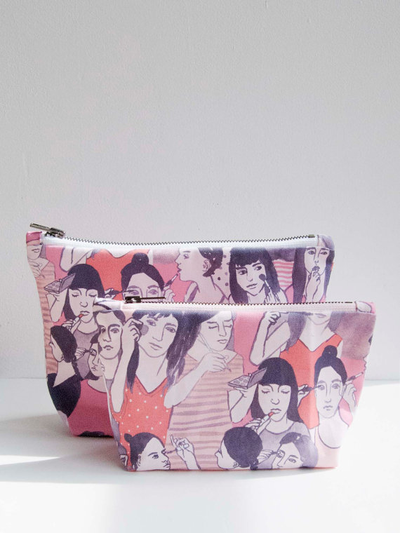 Makeup Bag Large by leahgoren on Etsy