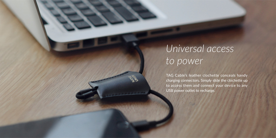 TAG Cable - Luxury leather charging cable for your bag | NATIVE UNION