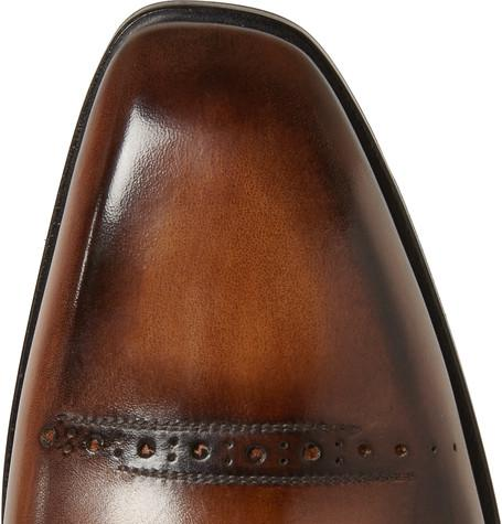 Berluti - Polished-Leather Derby Shoes