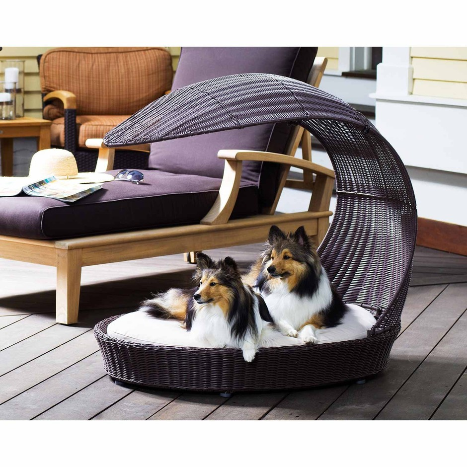 Outdoor Dog Chaise Lounger. Outdoor Dog Bed Furniture from The Refined Canine