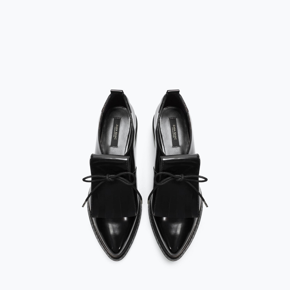 BLUCHER WITH FRINGES - Shoes - Woman - SHOES & BAGS | ZARA United States