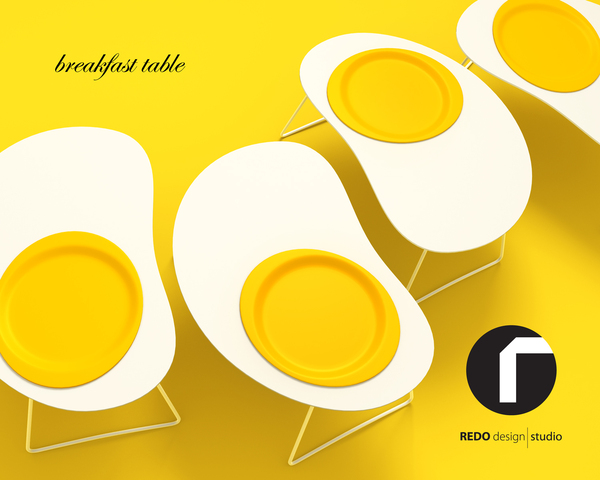 Egg - breakfast table - project 2011 on the Behance Network