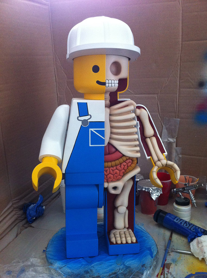 Giant LEGO men dissected by Jason Freeny | The Fox Is Black